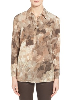 Lafayette 148 New York 'Cosmo Frannie' Print Silk Blouse