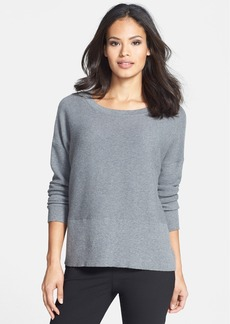 Lafayette 148 New York Cotton & Cashmere Bateau Neck Sweater