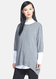 Lafayette 148 New York Cotton & Cashmere High/Low Sweater