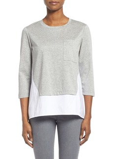 Lafayette 148 New York Cotton & Jersey Swing Top