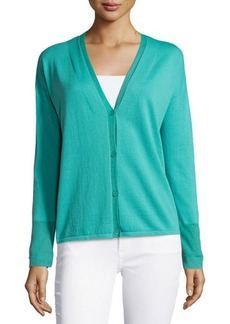 Lafayette 148 New York Cotton-Blend V-Neck Cardigan
