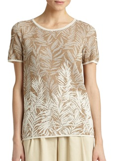 LAFAYETTE 148 NEW YORK Cotton Crepe Jacquard Sweater