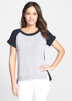 Lafayette 148 New York Cotton Raglan Sleeve Sweater