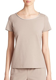 Lafayette 148 New York Cotton Stretch Jersey Tee
