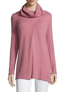 Lafayette 148 New York Cowl-Neck Long-Sleeve Sweater
