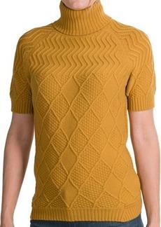 Lafayette 148 New York Cozy Flannel Turtleneck - Short Sleeve (For Women)