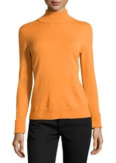 Lafayette 148 New York Cozy Wool Turtleneck Sweater, Cayenne