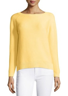 Lafayette 148 New York Crewneck Raglan-Sleeve Sweater