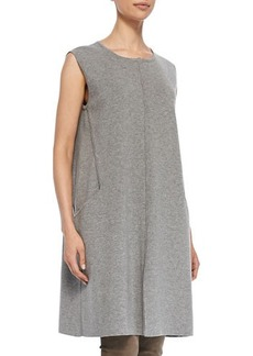 Lafayette 148 New York Crewneck Shift Dress with Center Seam