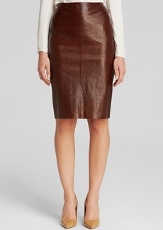 Lafayette 148 New York Crocodile Print Skirt