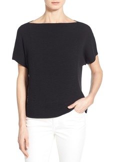 Lafayette 148 New York Crop Mixed Rib Sweater