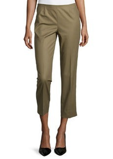 Lafayette 148 New York Cropped Bleecker Pants, Fatigue