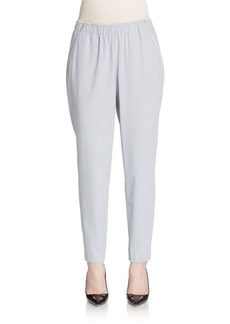 Lafayette 148 New York Cropped Crepe Track Pants