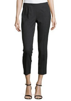 Lafayette 148 New York Cropped Side-Zip Pants, Smoke