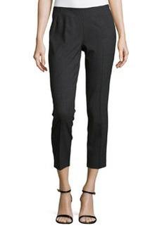 Lafayette 148 New York Cropped Side-Zip Pants, Smoke