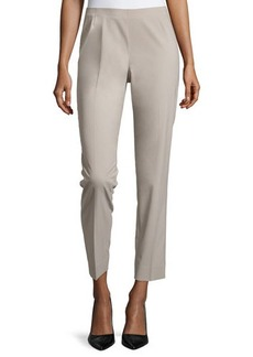 Lafayette 148 New York Cropped Slim-Leg Suiting Pants
