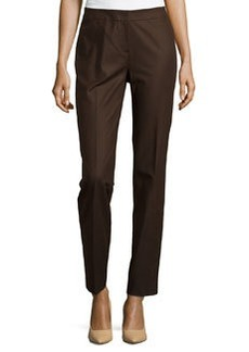 Lafayette 148 New York Crosby Straight-Leg Pants, Espresso