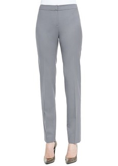 Lafayette 148 New York Crosby Straight-Leg Pants, Lead