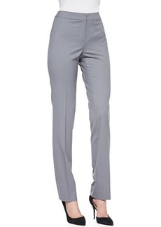 Lafayette 148 New York Crosby Straight-Leg Pants, Rock
