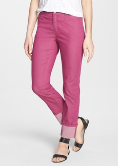 Lafayette 148 New York Cuffed Colored Stretch Denim Crop Jeans