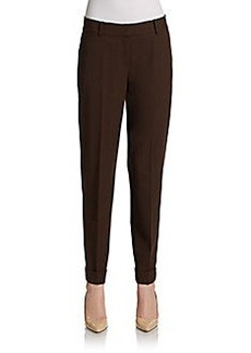 Lafayette 148 New York Cuffed Slim Wool Jersey Pants