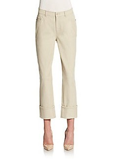 Lafayette 148 New York Curvy Cropped Cuffed Pants