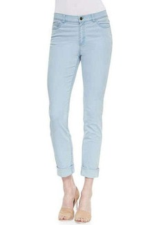 Lafayette 148 New York Curvy Double-Cuff Cropped Jeans