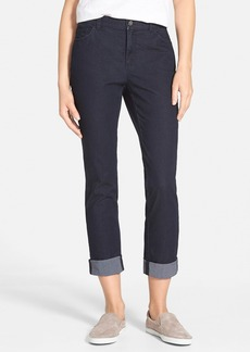 Lafayette 148 New York Curvy Fit Crop Slim Leg Jeans (Indigo)