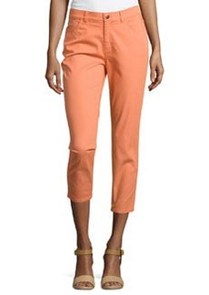 Lafayette 148 New York Curvy Slim Cropped Pants, Mimosa