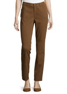 Lafayette 148 New York Curvy Slim-Leg Jacquard Pants, Coconut