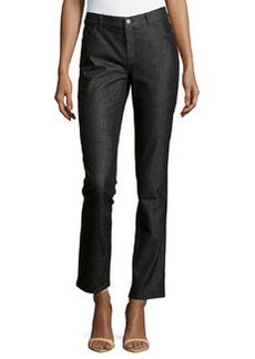 Lafayette 148 New York Curvy Slim-Leg Jeans, Black
