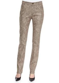 Lafayette 148 New York Curvy Slim-Leg Jeans, Hickory