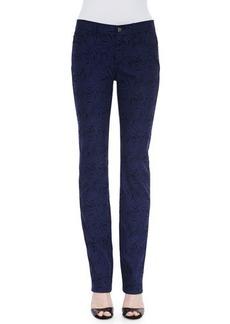 Lafayette 148 New York Curvy Slim-Leg Palm Jacquard Jeans  Curvy Slim-Leg Palm Jacquard Jeans