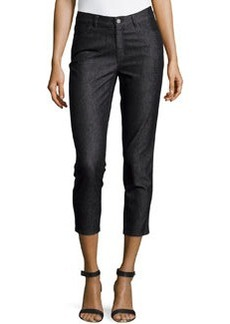 Lafayette 148 New York Curvy Slim-Leg Pants, Black