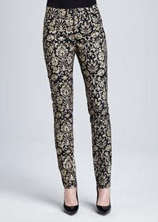Lafayette 148 New York Curvy Slim Printed Jeans