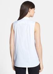 Lafayette 148 New York 'Daisy' Sleeveless Stretch Cotton Blouse