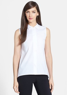 Lafayette 148 New York 'Daisy' Sleeveless Stretch Cotton Blouse