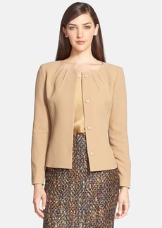 Lafayette 148 New York 'Damita' Wool Crepe Jacket (Regular & Petite)
