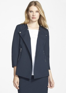 Lafayette 148 New York 'Dayle' Snap Front Jacket (Regular & Petite)