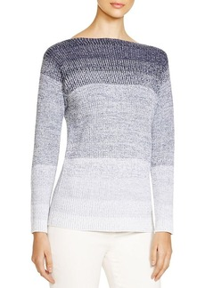 Lafayette 148 New York Degrade Ribbed Sweater