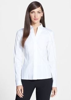 Lafayette 148 New York 'Demi' Stretch Cotton Blouse