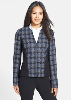 Lafayette 148 New York 'Denisa' Colorblock Check Jacket (Regular & Petite)