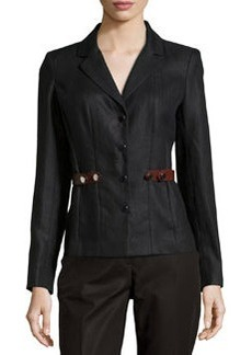 Lafayette 148 New York Denny Side-Tab Jacket, Black