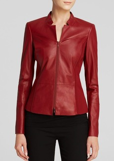 Lafayette 148 New York Denver Leather Jacket