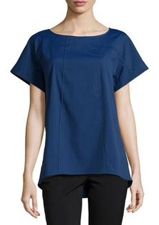 Lafayette 148 New York Deryn Short-Sleeve Top