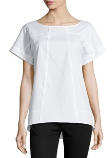Lafayette 148 New York Deryn Short-Sleeve Top, White