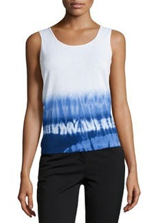 Lafayette 148 New York Dip-Dye Cotton Knit Tank Top, Luna/Multi