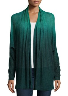 Lafayette 148 New York Dip-Dyed Pintucked Dolman Cardigan