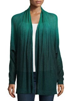 Lafayette 148 New York Dip-Dyed Pintucked Dolman Cardigan, Eden/Multi