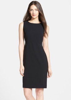 Lafayette 148 New York 'Dixie' Mesh Detail Sleeveless Sheath Dress